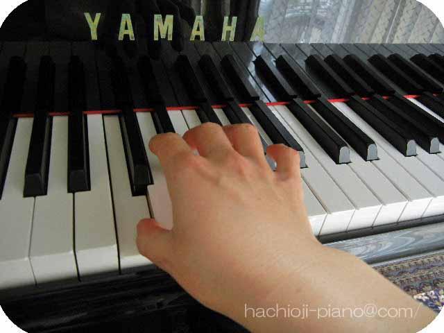 ピアノ演奏右手