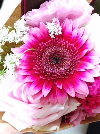生徒さんからのお花
