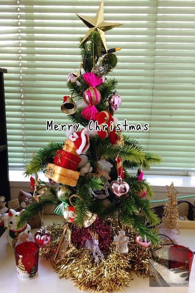玄関に飾ったクリスマスツリー。