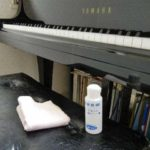 コロナウイルス感染予防のため、手の消毒、鍵盤の清掃、換気を徹底しています。